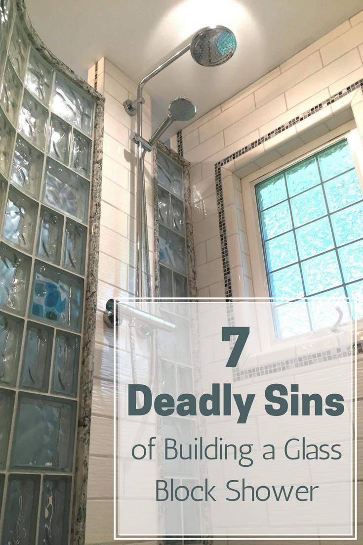 7 Deadly Sins of Building a Glass Block Shower