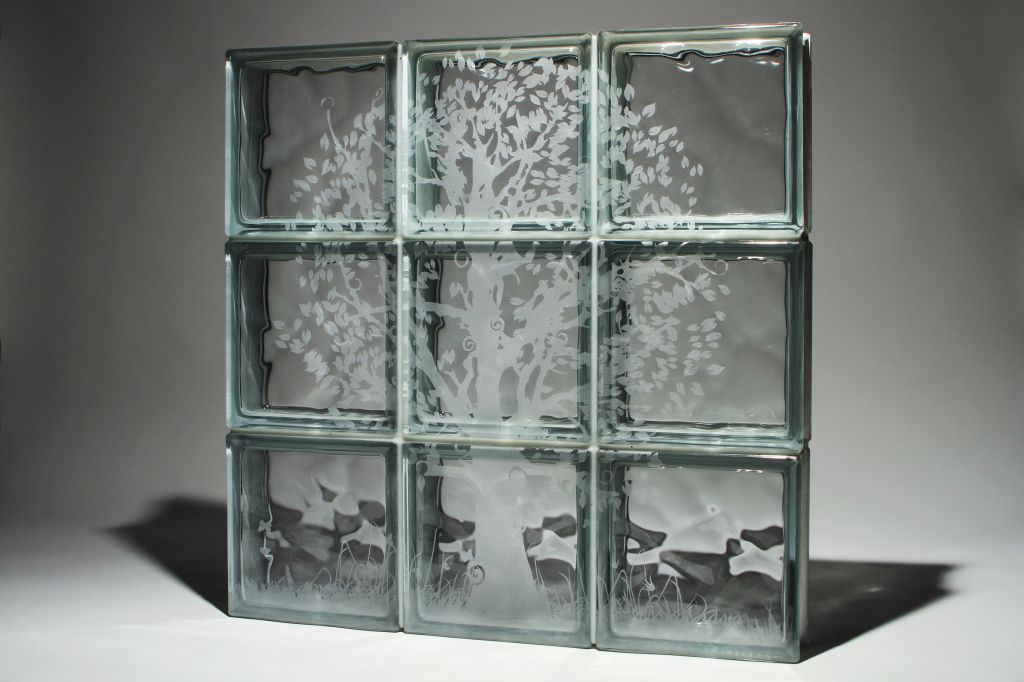 Add Style with Etched Glass Blocks for a Window, Shower or Wall Project