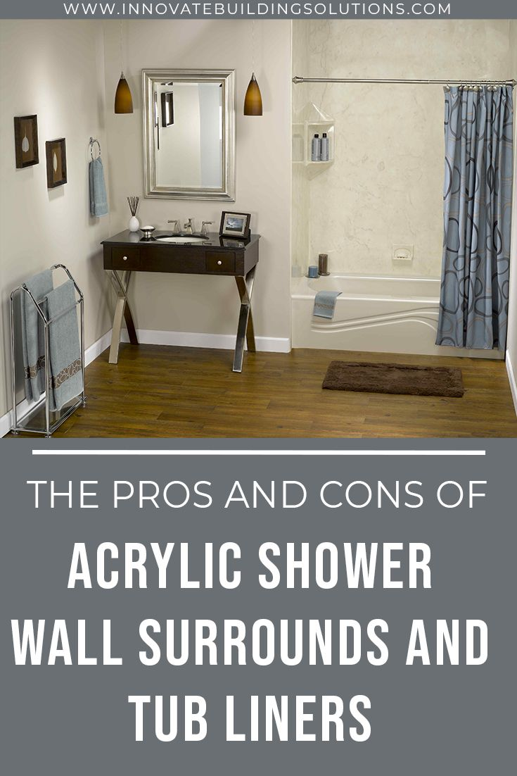 The Pros and Cons of Acrylic Shower Wall Surrounds and Tub Liners