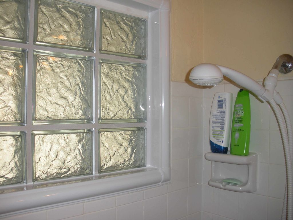 Bon Glass Block Bathroom Window In A Shower Area