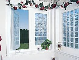 Casement style operable acrylic block window