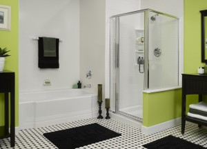 Acrylic shower wall and tub system
