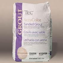 Sanded grout in a bag - powder form