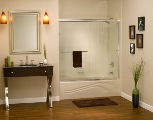 Acrylic bathtub and wall surrounds