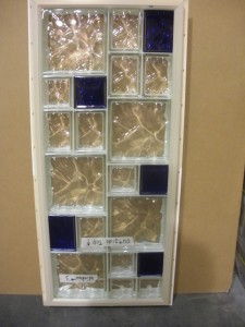 "Vinyl framed glass block window using 6"" x 6"" , 6"" x 8"" and 12"" x 12"" sizes"