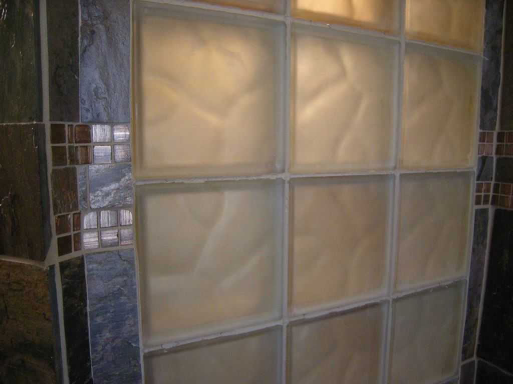 Frosted Glass Block Shower Bath Window Shower Remodeling Cleveland Columbus Cincinnati New