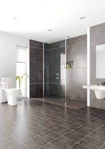 Accessible walk in or roll in shower