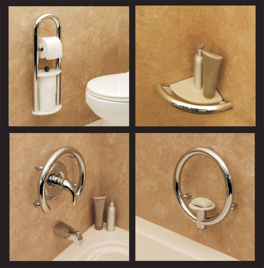 Decorative Bathroom Safety Accessories Toilet Roll  Corner Shelf  Valve  Ring  Soap Dish. Decorative bathroom accessories grab bar  towel bar  soap dish