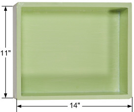 Waterproof pre-manufactured recessed wall niche