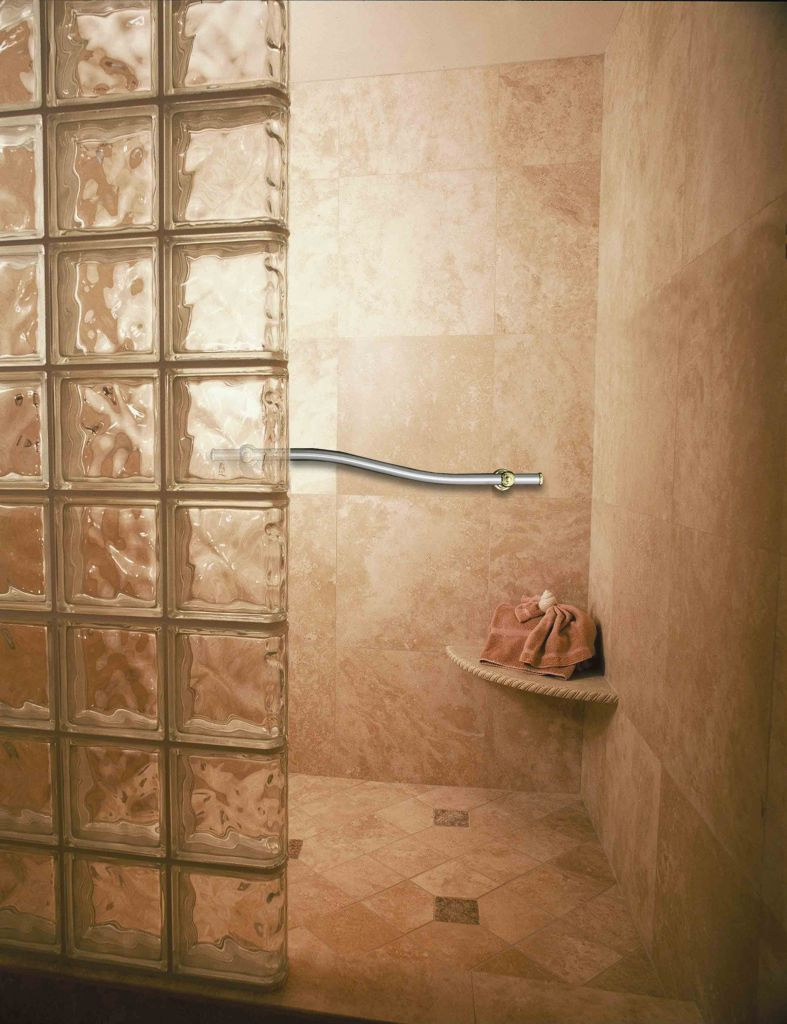 Universal shower, handicap accessible roll in shower, home ...