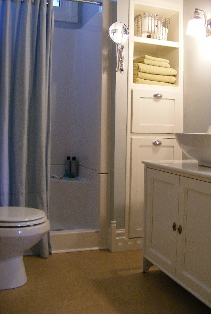 to add class character style in a small bathroom remodeling project