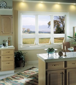 3 kitchen awning windows used below picture windows