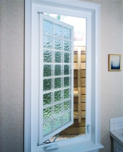 Acrylic block egress window