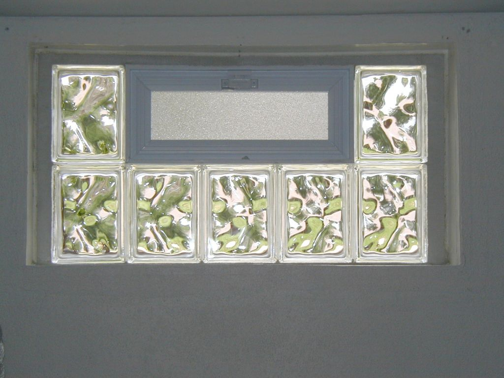 Basement egress energy star glass acrylic block basement for Glass block window frame