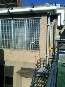 Sam Adams Industrial Glass Block Windows with Aluminum Channels