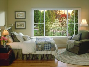 3 lite sliding window in a family room
