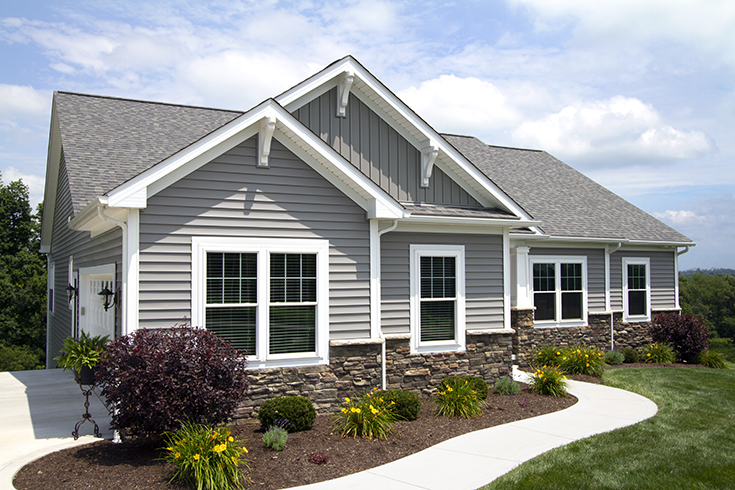 Advantage #1 - Craftsman style home with double hung vinyl replacement windows Cleveland | Innovate Building Solutions | #VinylWindows #CustomHomes #ClevelandWIndows