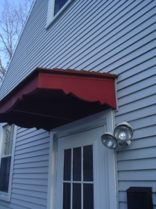 After - wooden door awning & shade canopy with custom design
