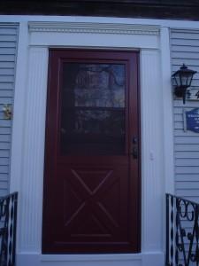 Provia Larson Storm Door Azek Pvc Replaces Wood Exterior House Trim