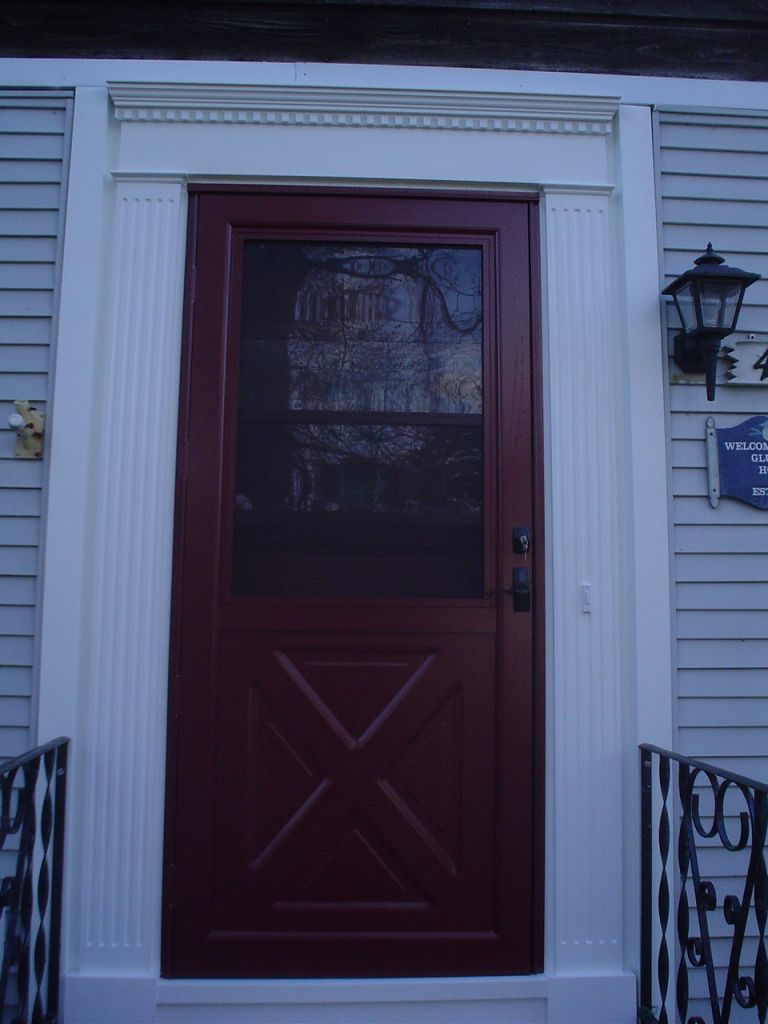 Provia Larson Storm Door Azek Pvc Replaces Wood Exterior House Trim