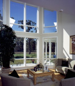 Living room grouping of picture windows