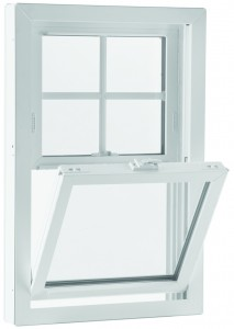 Double hung window with tilt in sashes for easy cleaning
