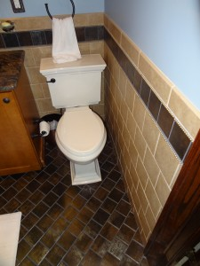 Small bathroom tile patten and design