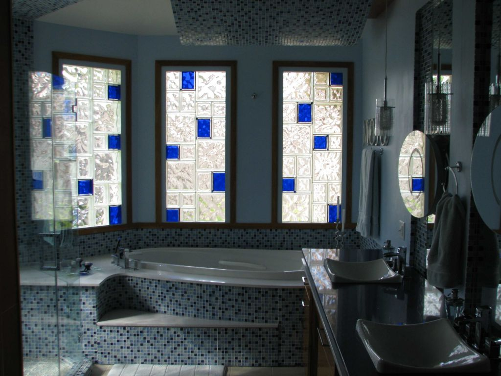 Shower wall window bar design glass block patterns sizes for Glass block window design ideas
