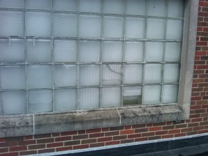 Before - St Agatha Church Gymnasium Windows