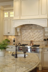 Kitchen remodeling with stainless steel oven maple cabinetry