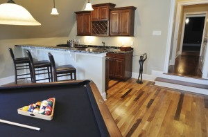 Basement remodeling game & recreation room