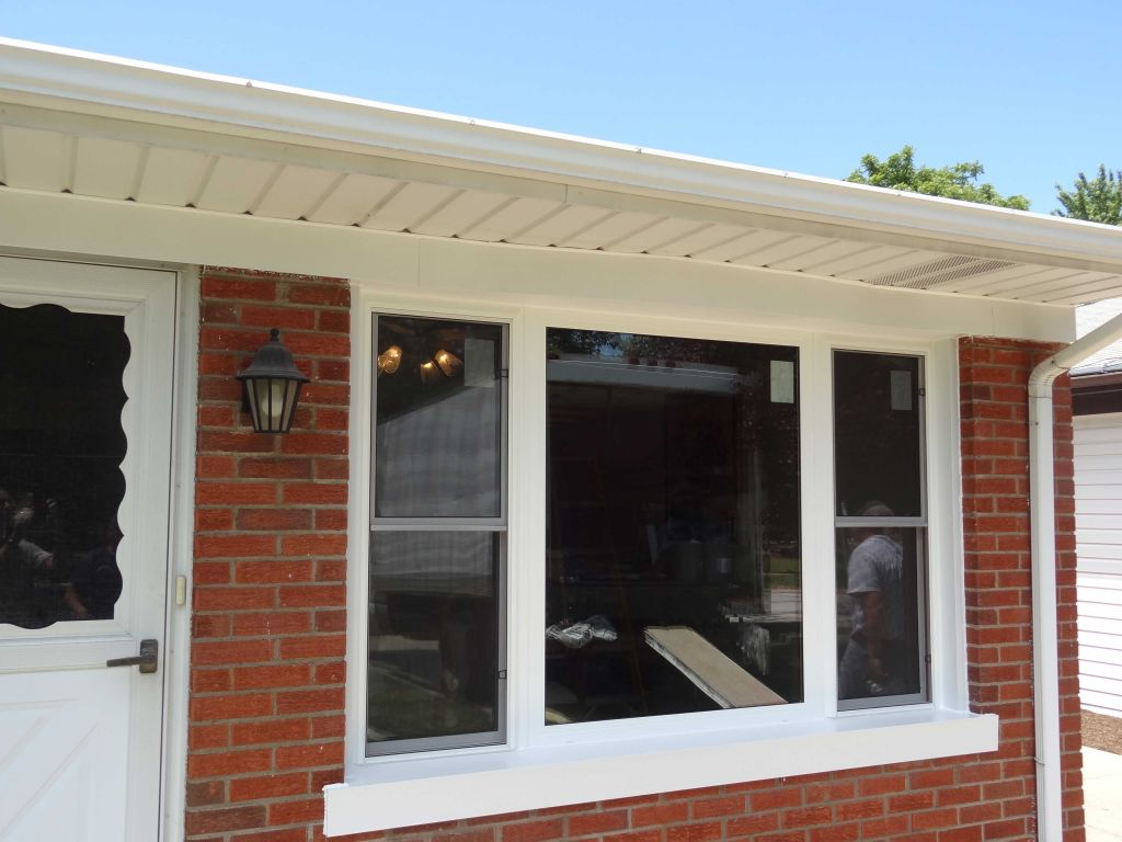 Replace a window with a door - After Picture Window With Double Hungs For Air Flow