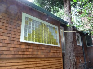 Room addition with tree going through the roof near Seattle Washington
