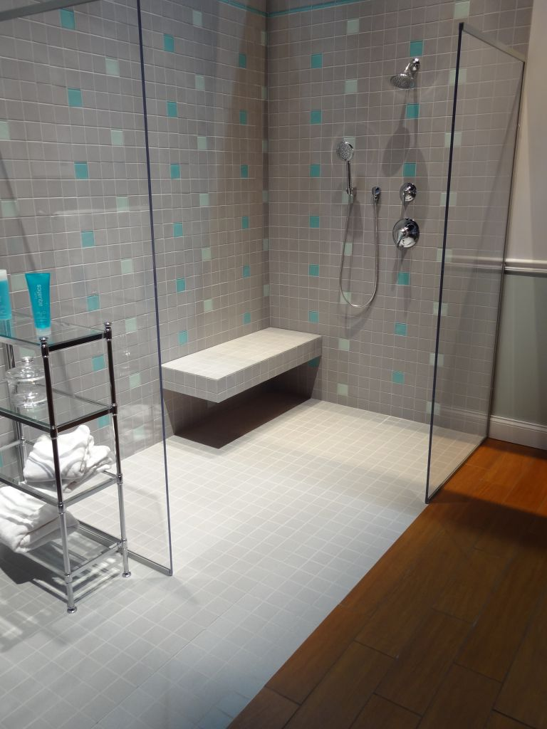 An Accessible Shower Exemplifies 2013 Bathroom Remodeling Trends