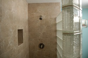 curved glass block walk in shower wall cleveland ohio