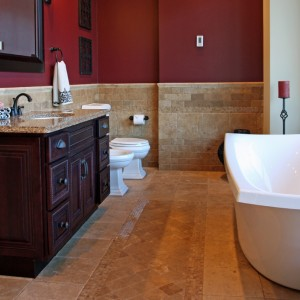 A full bathroom remodeling project