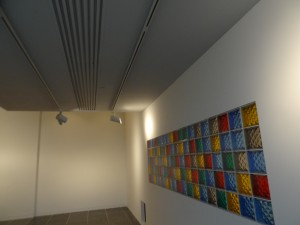 Color glass windows at Ohio State University Wexner Arts Center