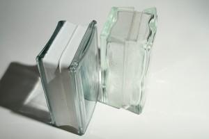 Thinner glass blocks for shower walls