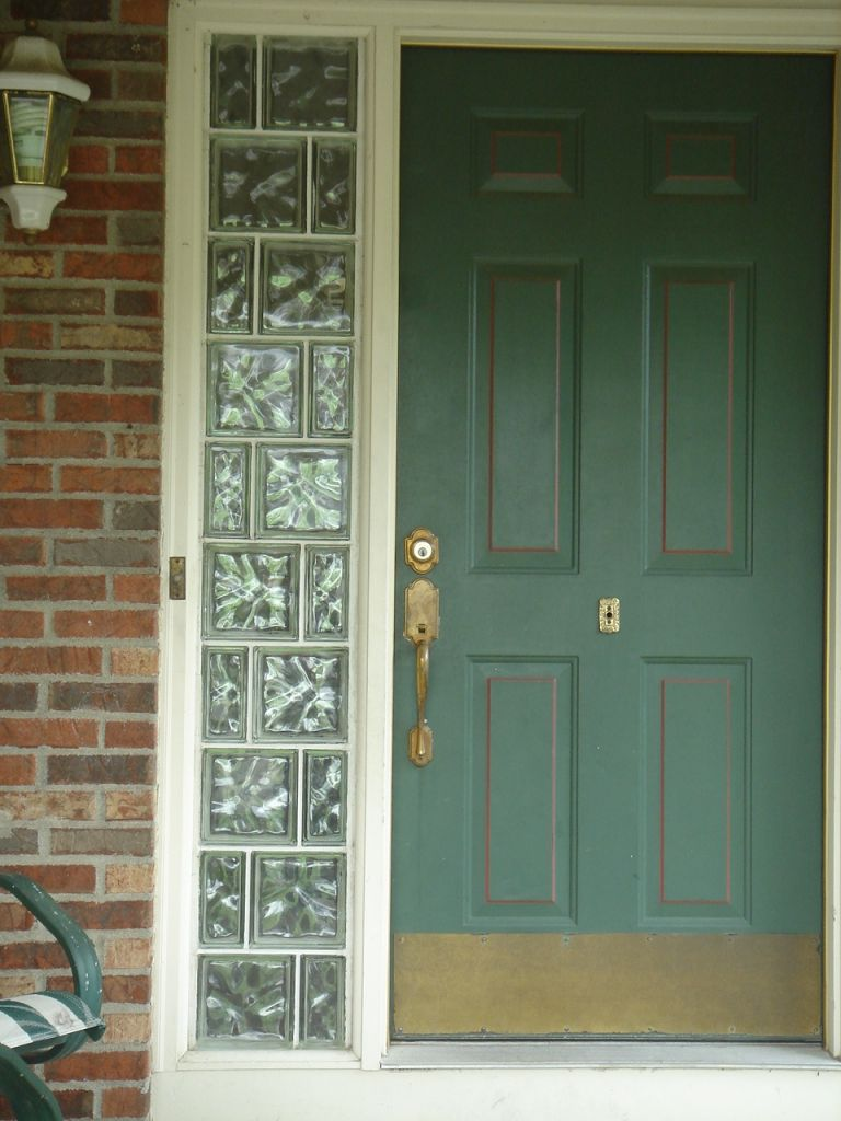 Entry door sidlight windows with glass blocks cleveland columbus entry door sidelights with glass blocks planetlyrics Image collections