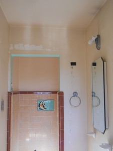 Existing small shower enclosure