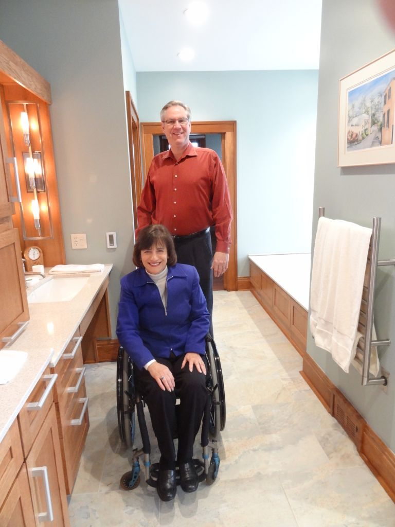 Universal & Accessible Master Bathroom Design from visit to