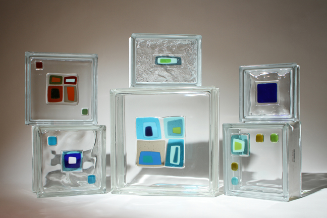 Art Glass Tile Blocks For A Shower Wall Window Or
