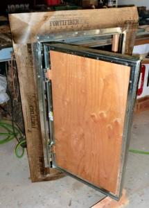 Emergency escape hatch under construction