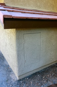 Outside view of 24 x 36 emergency escape hatch