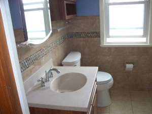 5' x 7' tile bathroom remodel in Parma Ohio for Kalkbrenner family