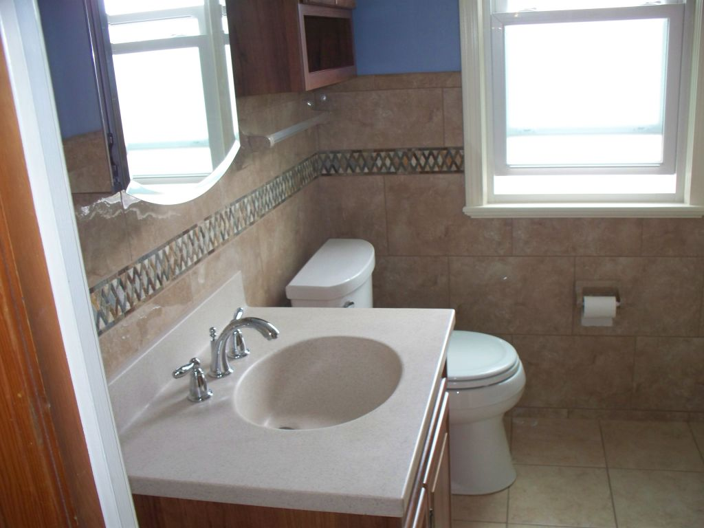 How a small outdated bathroom was transformed into feeling for Bathroom design 6 x 7
