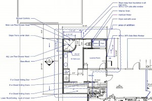 Plan of Simi Valley Room addition adding a Master Bath, Hallway and Office/Laundry Room