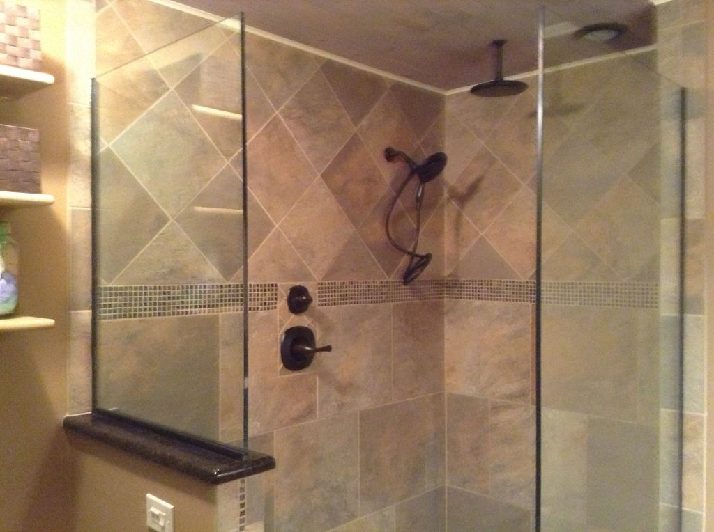 Experienced DIY Remodelers Transform Their Master Bathroom ... on Bathroom Tile Pattern Design  id=37485