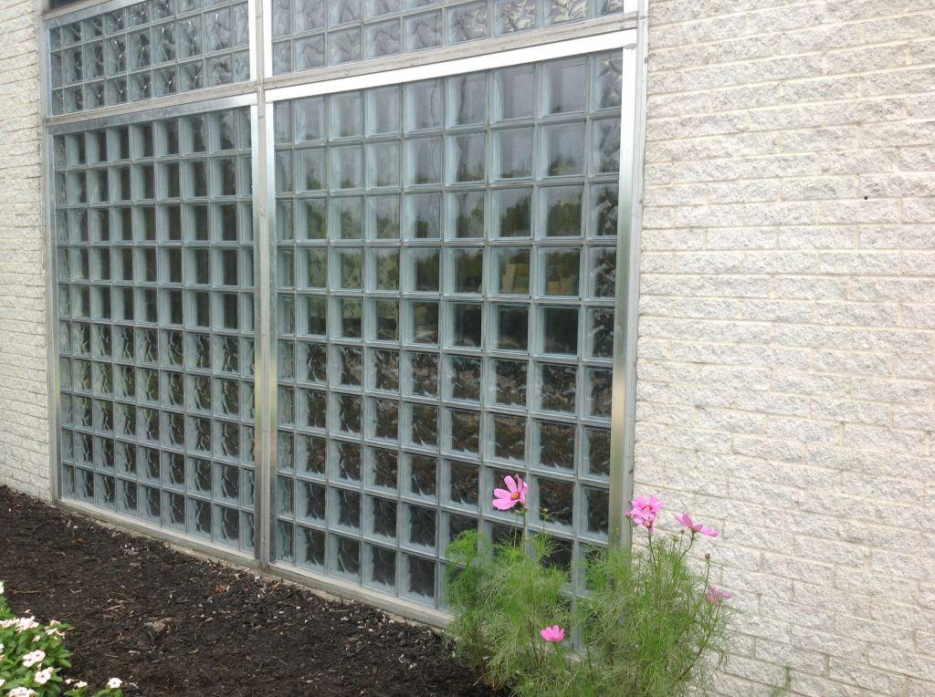 replacing aluminum storefront windows with glass blocks
