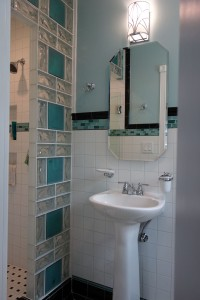 Decorative thinner glass blocks are available in different patterns and sizes